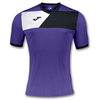 Joma | SHORT SLEEVE T-SHIRT CREW II PURPLE-BLACK | 11222-JOM-100611.551