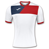 Joma | SHORT SLEEVE T-SHIRT CREW II WHITE-RED | 11227-JOM-100611.206