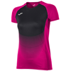 Joma | SHORT SLEEVE T-SHIRT ELITE VI PINK-BLACK WOMEN | 11786-JOM-900641.501