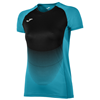 Joma | SHORT SLEEVE T-SHIRT ELITE VI TURQUOISE-BLACK WOMEN | 11789-JOM-900641.011
