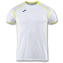 Joma | SHORT SLEEVE T-SHIRT OLIMPIA WHITE-YELLOW | 11893-JOM-100736.200