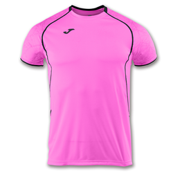 Joma | SHORT SLEEVE T-SHIRT OLIMPIA PINK-BLACK | 11895-JOM-100736.030