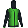 Joma | SUPERNOVA HOODED JACKET BLACK-FLUORESCENT GREEN | 12489-JOM-101285.117