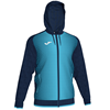 Joma | SUPERNOVA HOODED JACKET NAVY-FLUORESCENT TURQUOISE | 12490-JOM-101285.342