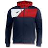 Joma | HOODED JACKET POLY CREW II NAVY BLUE-RED | 12524-JOM-100615.306