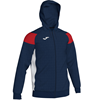 Joma | POLY CREW III HOODED JACKET NAVY-RED-WHITE | 12560-JOM-101271.336