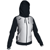 Joma | SUPERNOVA WOMEN'S HOODED JACKET BLACK-WHITE | 13364-JOM-900891.102