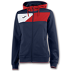 Joma | HOODED JACKET CREW II NAVY BLUE-RED WOMEN | 13375-JOM-900386.306