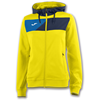 Joma | HOODED JACKET CREW II YELLOW-NAVY BLUE WOMEN | 13396-JOM-900386.903