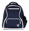 Rebel Athletic | Mystic Navy Rebel Dream Bag With White Zipper | 14096-REB-DBMYSTICWHT