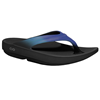 OOFOS | OOlala Womens Thong Sandal Black / Blue Jay Size 7 | 14293-OOF-1400BLKBLJ