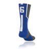 TCK | Player Id Number Socks - Royal | 4204-TCK-145