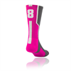 TCK | Player Id Number Socks - Hot Pink | 4205-TCK-144