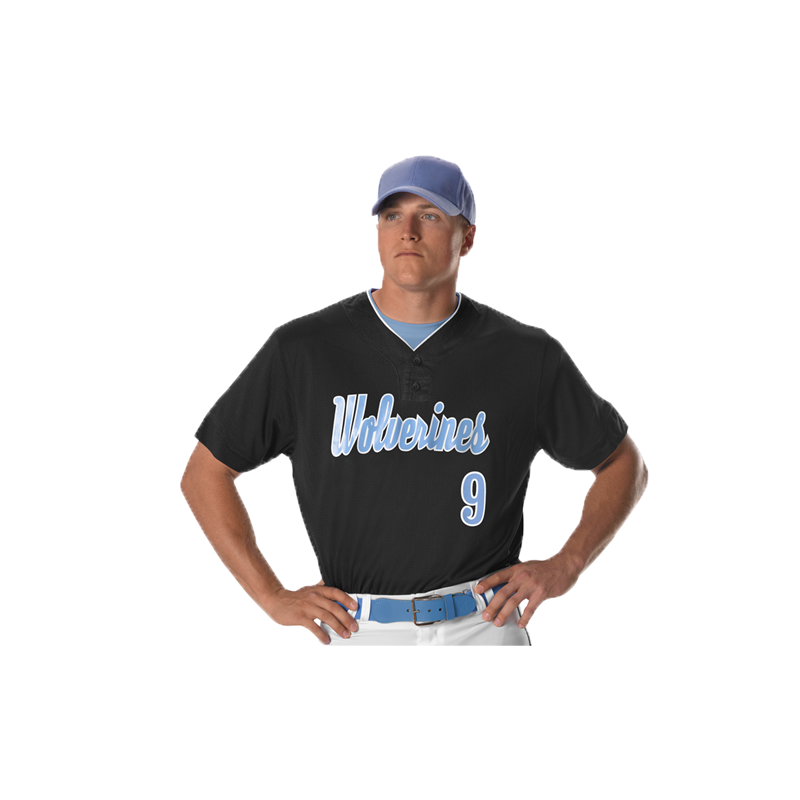 851787d86 Youth Two Button Mesh Baseball Jersey With Piping | Alleson Athletic ...