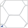 CHAMPRO Sports | Braided Soccer Goal Net 4.0mm Hexagon Pattern (White Only) | 6205-CHP-NS2