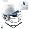 CHAMPRO Sports | Two-Tone Gem Gloss Performance Batting Helmet With Facemask | 6235-CHP-H4S