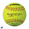 "CHAMPRO Sports | Asa 12"" Slow Pitch Yellow Leather Cover .44 Cor 