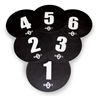 Bownet | Volleyball Floor Targets, 6 Pack | 8771-BWN-BOW-VB-TARGETS