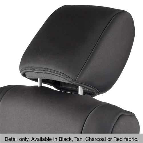 Front Seat Covers Smittybilt 471201 Neoprene Black Rear