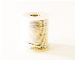Solid Hook Up Wire - 22 Gauge, 100 Foot Spool - White (Shade May Vary)