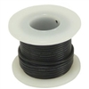 Solid Hook Up Wire - 22 Gauge, 25 Foot Spool - Black (Shade May Vary)