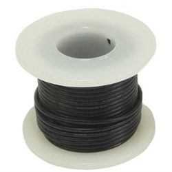 HOOK UP WIRE 22 GUAGE SOLID (25' / BLACK)