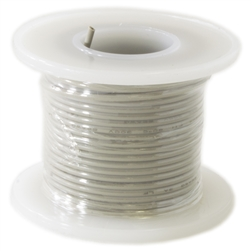 HOOK UP WIRE 22 GUAGE SOLID (25' / GRAY)