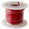 Solid Hook Up Wire - 22 Gauge, 25 Foot Spool - Red (Shade May Vary)