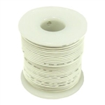 HOOK UP WIRE 22 GAUGE SOLID (25' / WHITE)