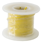 HOOK UP WIRE 22 GUAGE SOLID (25' / YELLOW)