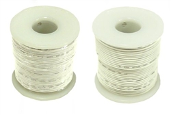 Solid Hook Up Wire - 24 Gauge, 25 Foot Spool - White (Shade May Vary)