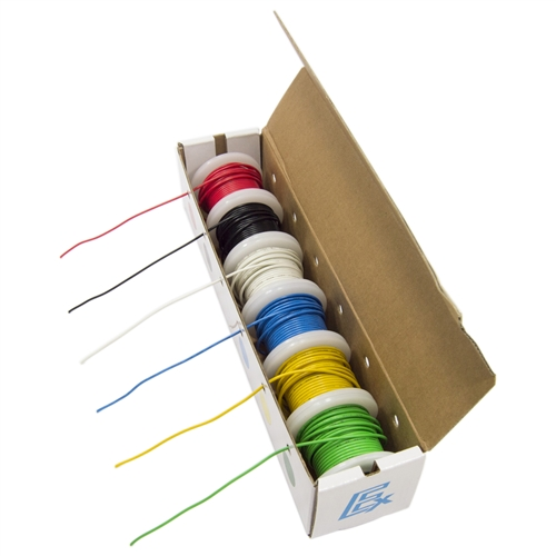 Hookup wire kit, 6 colors