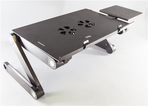 Portable Laptop/Table Desk With Mouse Pad Attachment Vented With Powered  Fans Fully Adjustable Multifunctional