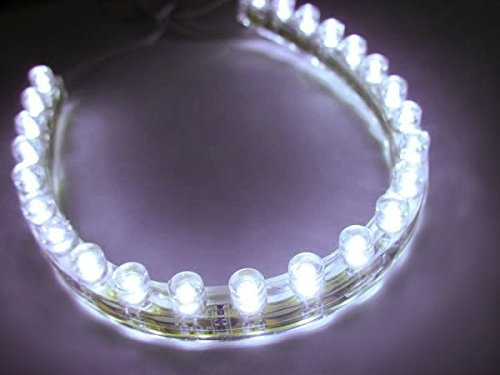 Led Strip Lighting For Car Home Special Effects Cool White 24 Lights