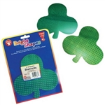 "HyGloss Green Holographic Shamrock 6"" 10pk."
