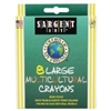 SARGENT ART LARGE MULTICULTURAL CRAYONS
