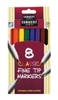 SARGENT ART CLASSIC FINE TIP MARKERS 8 PK