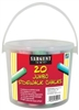 SARGENT ART JUMBO SIDEWALK CHALK 20 PC BUCKET