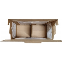 NEW Vented 2 Bird Shipping Box w/ Dividers