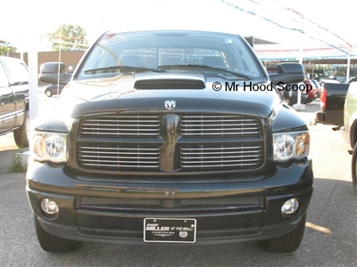 2002 - 2008 Dodge Ram 1500 Hood Scoop Kit With Grille Insert HS003  unpainted or painted