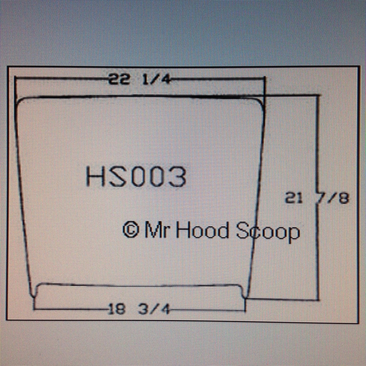 Xtreme Autosport Unpainted Hood Scoop Compatible with 2011-2016 Ford Super Duty F250 F350 by MrHoodScoop HS002
