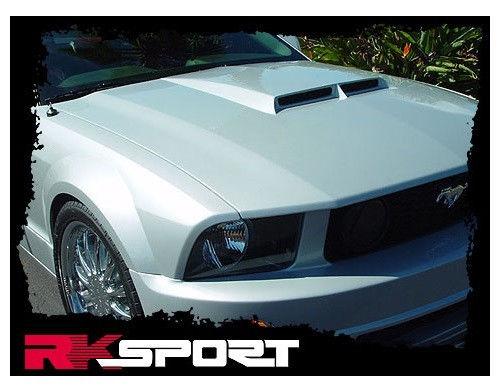 2005 - 2009 Ford Mustang Functional GT/R Code Ram Air Hood By RK Sport  18011000