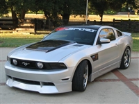 2010, 2011, 2012 Ford Mustang Carbon Fiber Blister Hood Ram Air Hood By RK Sport 18014010