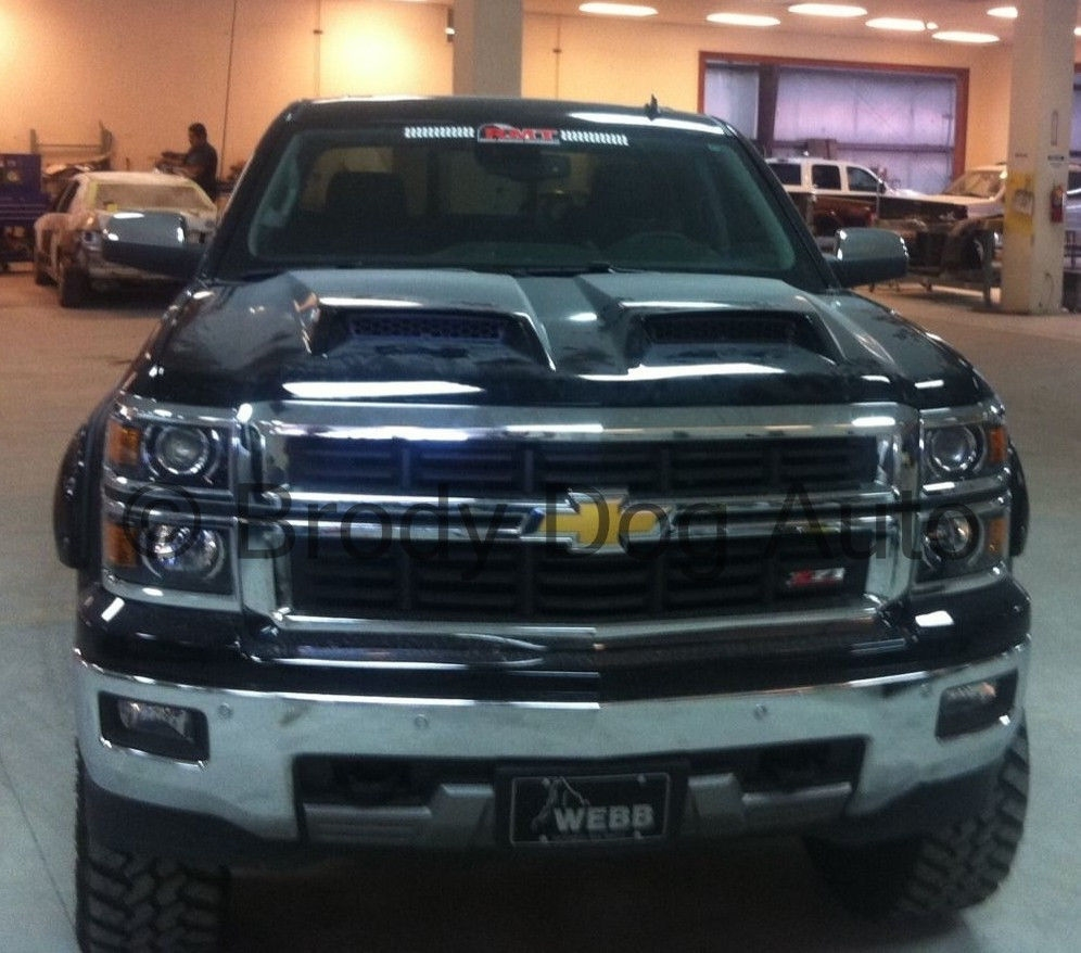 2014 - 2015 Chevy Silverado Ram Air Power Hood For 1500 Series 811522