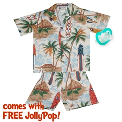 Photo of Hawaiian Surf Boy's Cabana Set & Free JollyPop
