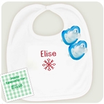 1. Personalized Christmas Bib with JollyPop