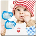 Personalized Valentine Bib with 2 JollyPops