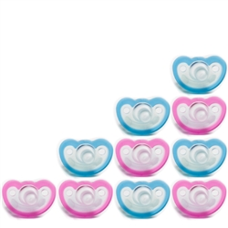 Photo of JollyPop Pacifier 10 Pack 0-3m Blue-Pinke