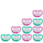 Photo of JollyPop Pacifier 10 Pack 0-3m Teal-Pink