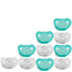 Photo of JollyPop Pacifier 10 Pack 3m+ Teal-Clear